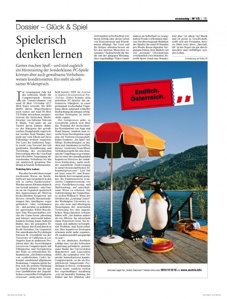 Heft Ausgabe Nr. 15 - Seite 19