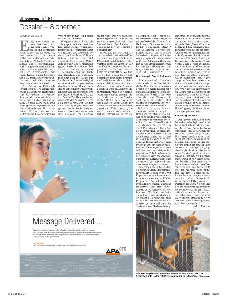 Heft Ausgabe Nr. 19 - Seite 26