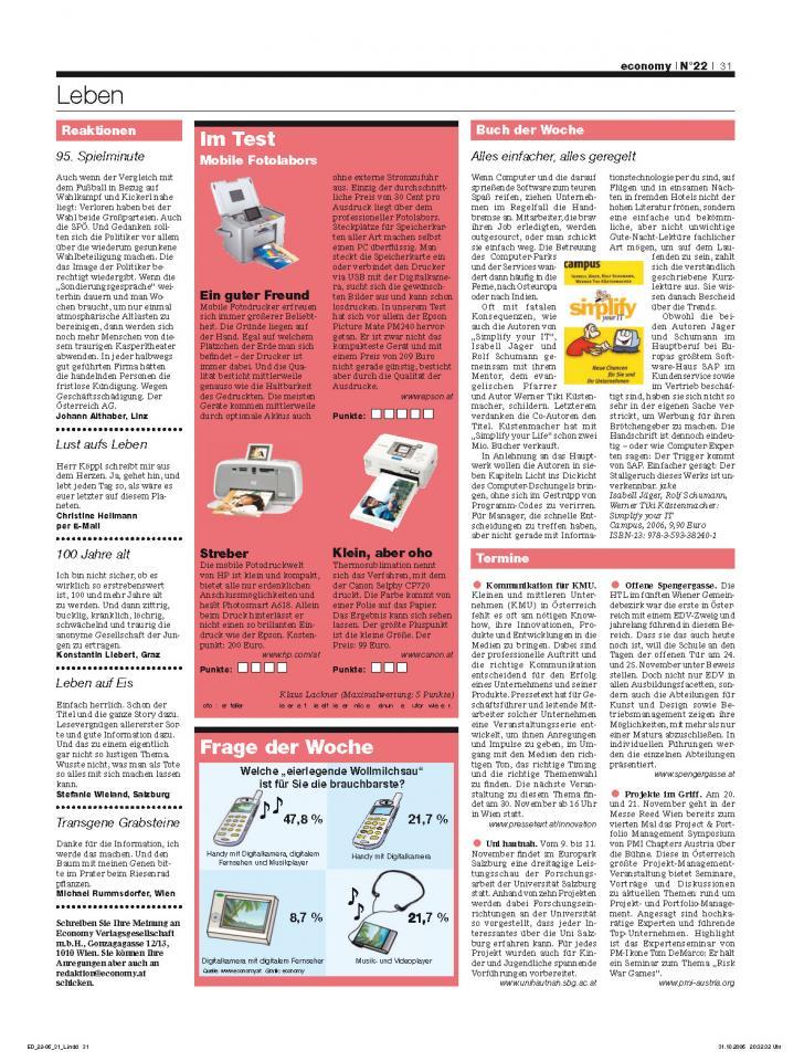 Heft Ausgabe Nr. 22 - Seite 31