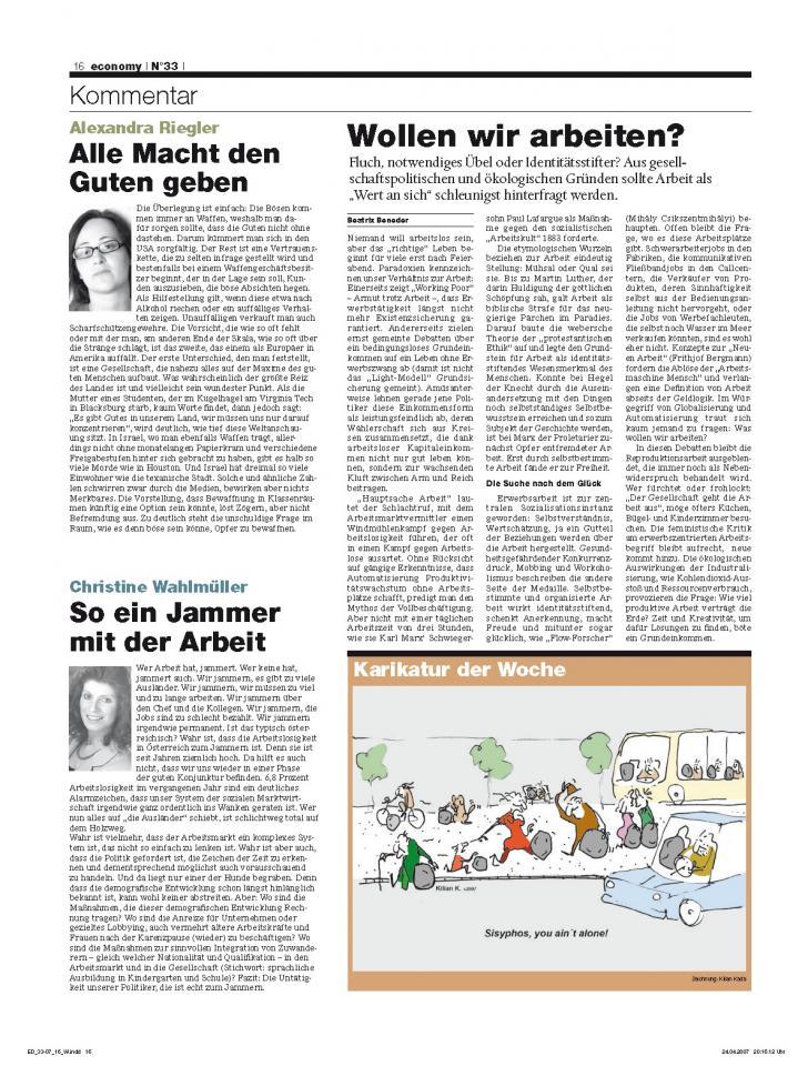 Heft Ausgabe Nr. 33 - Seite 16